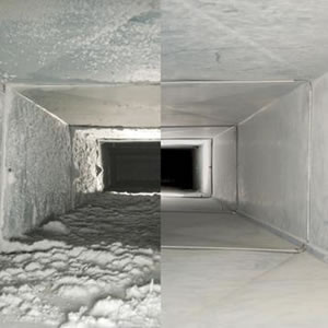 before & after air duct cleaning